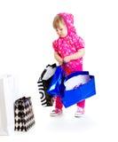 Fashionable little girl royalty free stock image