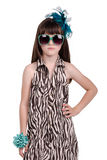 Fashionable little girl Stock Images