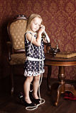 Fashionable little girl Royalty Free Stock Photo