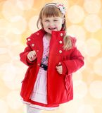 Fashionable little girl Royalty Free Stock Images