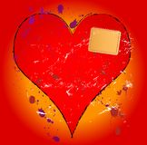 Fashionable love concept. Heartbreak illustration, love concept, with heart and patch Royalty Free Stock Photography