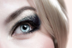 Fashionable makeup Stock Images