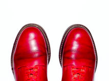 Fashionable male brogue shoes. Royalty Free Stock Images