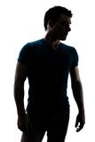 Fashionable male figure in silhouette Stock Image