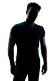 Fashionable male figure in silhouette Royalty Free Stock Image