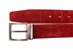 Fashionable male red strap isolated on white background Royalty Free Stock Photography