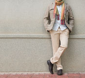 Fashionable man in beige Stock Image