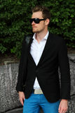 Fashionable man in blazer Royalty Free Stock Photography