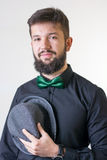 Fashionable man with a bow tie Stock Image