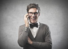 Fashionable Man Calling Royalty Free Stock Images