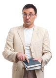 Fashionable man holding books Stock Photos