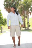 Fashionable man in the park Royalty Free Stock Photos