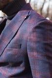 Fashionable man posing during Milan Men`s Fashion Week Royalty Free Stock Photography