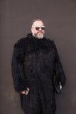 Fashionable man posing at Milan Men`s Fashion Week Royalty Free Stock Photography