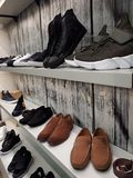 man shoes in the store royalty free stock photography