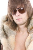 Fashionable man wearing parka Stock Photo