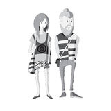 Fashionable man and woman. Royalty Free Stock Photography