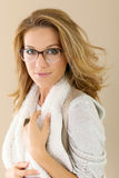 Fashionable mature woman with glasses Royalty Free Stock Photography