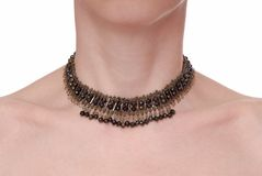 A fashionable metallic necklace Stock Images