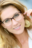 Fashionable model wearing eyeglasses Royalty Free Stock Photography