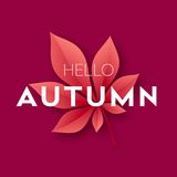 Fashionable modern autumn background with bright autumn leaves for design of posters, flyers, banners. Vector. Illustration EPS10 Stock Image