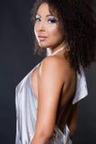 Fashionable mulatto woman Stock Photography