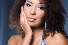 Fashionable mulatto woman Royalty Free Stock Photo