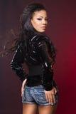 Fashionable mulatto woman Royalty Free Stock Photos