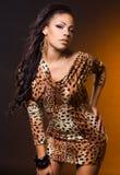 Fashionable mulatto woman Stock Image