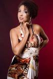 Fashionable mulatto woman Stock Photos