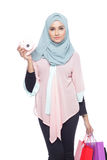 Fashionable muslimah woman Royalty Free Stock Photos