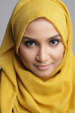 Fashionable muslimah woman. Portrait of beautiful musliman woman Royalty Free Stock Photos