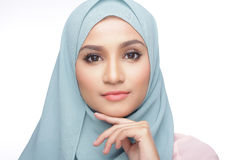 Fashionable muslimah woman. Portrait of beautiful musliman asian woman Stock Photo
