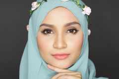 Fashionable muslimah woman Royalty Free Stock Images