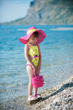 Fashionable On The Beach Royalty Free Stock Photo
