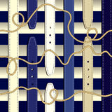 Fashionable pattern in nautical style Stock Images