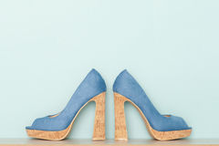 Fashionable Peeptoe High Heels Royalty Free Stock Photo