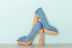 Fashionable Peeptoe High Heels Royalty Free Stock Image