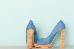 Fashionable Peeptoe High Heels Royalty Free Stock Photography