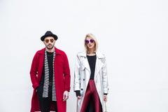 Fashionable people at Milan Men`s Fashion Week royalty free stock photos