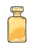 Fashionable Perfume in Glass Yellow Flask Close-up Stock Photography