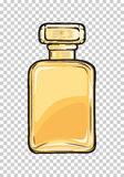 Fashionable Perfume in Glass Yellow Flask Close-up Royalty Free Stock Photo