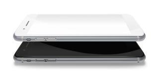 Fashionable phones realistic smartphones. Stock Image