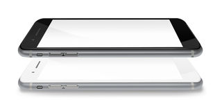 Fashionable phones realistic smartphones. Stock Photo