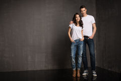 Fashionable picture of young people royalty free stock images