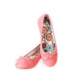 Fashionable pink ballet flats Royalty Free Stock Photos