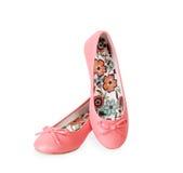Fashionable Pink Ballet Flats Royalty Free Stock Photos