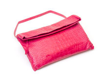 Fashionable pink leather handbag Royalty Free Stock Photo