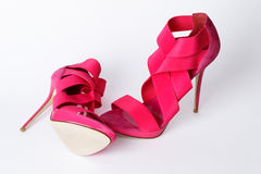 Fashionable pink shoes Royalty Free Stock Image