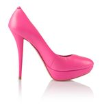 Fashionable pink women shoe Stock Photography